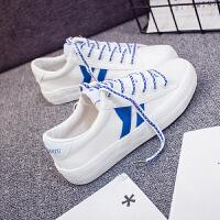 春夏季街拍帆布鞋女学生韩版原宿ulzzang小白鞋平底板鞋