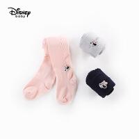 迪士尼宝宝童装婴幼儿女童连裤袜2019秋新品儿童打底袜小孩公主袜