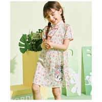 【抢购价:62.7元】巴布豆童装女童夏季旗袍款式连衣裙