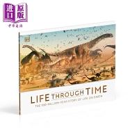 【中商原版】Life Through Time 穿越时间的生活 儿童恐龙和巨型生物主题科普绘本 精装 英文原版 7-12