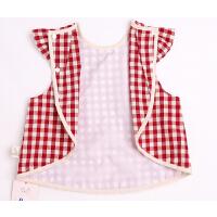 女孩吃饭罩衣婴儿无袖围兜宝宝防水儿童围裙夏季薄款