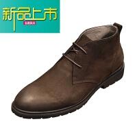 新品上市男短靴冬季马丁靴男英伦高帮男鞋真皮加绒工装靴复古牛皮靴子男潮