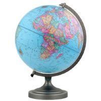 博目地球仪:30cm中英文政区地球仪(金属支架),北京博目地图制品有限公司,测绘出版社【质量保障放心购买】