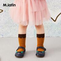 【秒杀价:112元】马拉丁童装女小童皮鞋春装2020年新款可爱图案小皮鞋