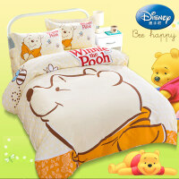 �和�床上用品四件套�棉男孩女孩1.2米1.5全棉卡通被套三件套床品