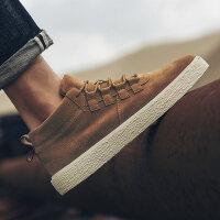 休闲冬天复古板鞋2018新款男士鞋子韩版潮流男鞋冬季潮鞋百搭学生