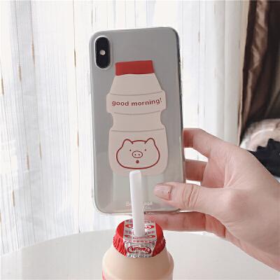 猪猪乳酸菌iPhoneXs max/xr透明7 8P 6S手机套 iPhone6/6S (4.7寸)