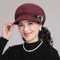 帽子女秋冬韩版贝雷帽子出游保暖帽中年妈妈鸭舌休闲时尚八角帽