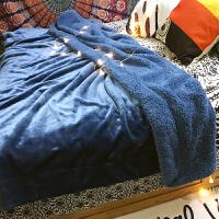加厚保暖珊瑚绒毯子双层法兰绒毛毯被子床单双人冬季小毛毯