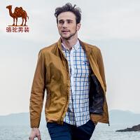 骆驼CAMEL 男装 春季新款夹克 男士日常休闲立领直筒夹克外套