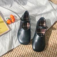 ins小皮鞋女复古2018新款韩版平底百搭方头学生单鞋温柔仙女鞋子