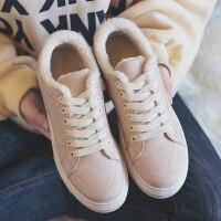 豆豆女鞋冬天二棉鞋街拍小黑鞋2018秋冬季新款百搭韩版毛毛鞋加绒
