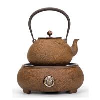 唐丰老铁壶煮茶器套装电陶炉烧水壶大容量家用生铁壶礼盒装