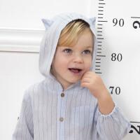 davebella戴维贝拉2020春装新款男童外套宝宝连帽外套DB13354