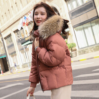 新年特惠短款羽绒服女韩版2019新款时尚矮小个子外套冬貉子大毛领修身小款