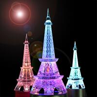 水晶装饰灯埃菲尔铁塔创意520生日礼物女生送女友男特别实用老婆 mp3音乐盒 铁塔