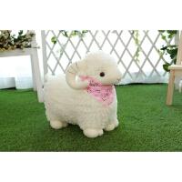 羊娃娃公仔大 可爱毛绒玩具羊小绵羊公仔玩偶大号布娃娃抱枕送儿童女生生日礼物 白色