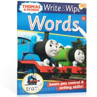 顺丰包邮 英文原版进口 【可擦写】托马斯和朋友们系列 Thomas Wipe & Write Wor 单词书 学前教育