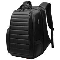 背包男士双肩包.6寸电脑包商务大容量旅行包休闲时尚潮流书包男 典雅黑