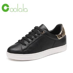 红蜻蜓旗下品牌coolala女鞋秋冬休闲鞋板鞋女鞋子HNB6309
