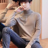 冬季潮流男士高领针织毛衣加厚长袖T恤韩版修身衣服冬装打底衫秋学生针织