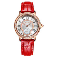 手表女皮带真皮韩版时尚潮流女表防水石英表 女士腕表