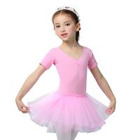 儿童舞蹈服女童芭蕾舞裙女孩舞蹈衣服幼儿练功服短袖表演服装