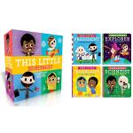 英文原版 This Little Collection 这个小小孩的名人传记 4册盒装纸板书 儿童英语启蒙绘本