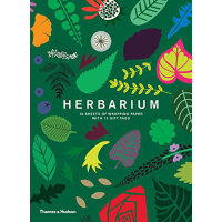 Herbarium Gift Wrap: 10 Sheets of Wrapping Paper with 12 Gi