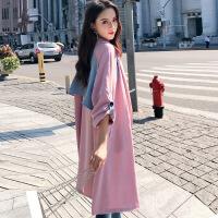 中长款时尚款大衣 孕妇外套秋冬韩版宽松小个子外搭2018新款风衣女