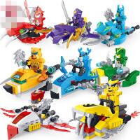 星钻积木猪猪侠拼装积木儿童拼插铁拳虎飞船男孩组装玩具兼容乐高