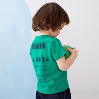 【秒杀价:59元】马拉丁童装男小童T恤2020夏装新款印花设计透气百搭短袖T恤