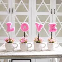 新房客厅隔板置物架摆件田园仿真盆栽创意家居饰品摆设结婚礼物