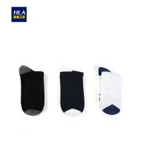 HLA/海澜之家三双装休闲潮流运动风中筒袜新品男袜