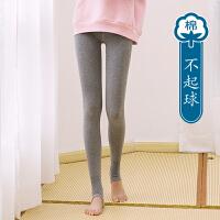 新款打底裤女外穿纯棉踩脚秋冬季加绒加厚灰色韩版百搭打底袜