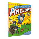 Captain Awesome Goes to Superhero Camp 异能船长去露营 儿童英文初级章节小说 英