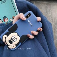蓝色卡通8plus苹果x手机壳XS Max/XR/iPhoneX/7p/6女iphone6s硅胶 i6/6s 蓝底笑脸