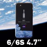 nasa苹果xsmax手机壳新款潮牌iphone8plus全包套67个性太空男女XR 6 / 6S (4.7寸)火箭