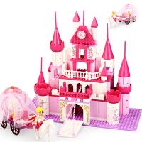 兼容乐高拼装积木女孩别墅房子系列公主城堡颗粒拼插女童益智玩具