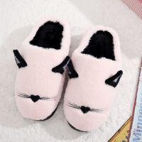 棉拖鞋女可爱韩版冬季厚底月子男居家居保暖室内情侣冬天毛毛拖