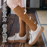 小腿袜女潮ins黑色显瘦jk日系森系学院风长筒袜高筒秋季及膝袜