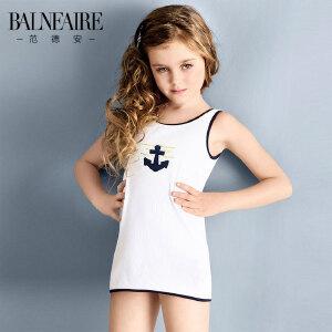 范德安儿童泳衣 新款女孩大中童运动分体专业游泳衣防晒品牌泳装