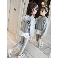 女童休闲运动套装春装中大童儿童时尚洋气两件套童装