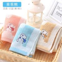 儿童毛巾4条装 棉卡通洗脸面巾 柔软吸水儿童巾宝宝小毛巾y 乖乖熊