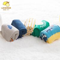 儿童袜子秋冬男女童短袜透气棉袜礼盒装条纹1-9岁宝宝袜