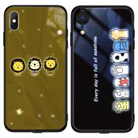 苹果X手机壳发光xsmax潮8plus可爱iphonexr玻璃八女个性iphonex全包防摔7P电光七来电闪xmax网