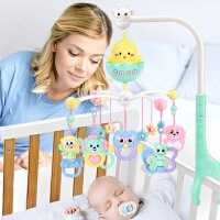 新生婴儿床铃0-1岁男女宝宝玩具音乐旋转益智摇铃床头铃
