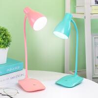 台灯护眼书桌大学生宿舍LED充电式小台灯学习保视力床头触摸调光