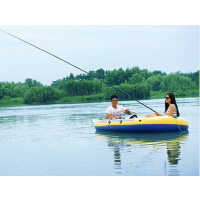 户外运动充气飞鱼船 大空间橡皮船多人人船时尚沙滩滑水皮划艇