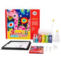 彩沙儿童沙DIY手工套装创意绘画礼盒3-6岁 儿童沙画套装